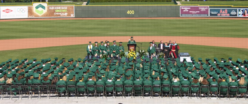 H.H. Dow High Graduates at Dow Diamond