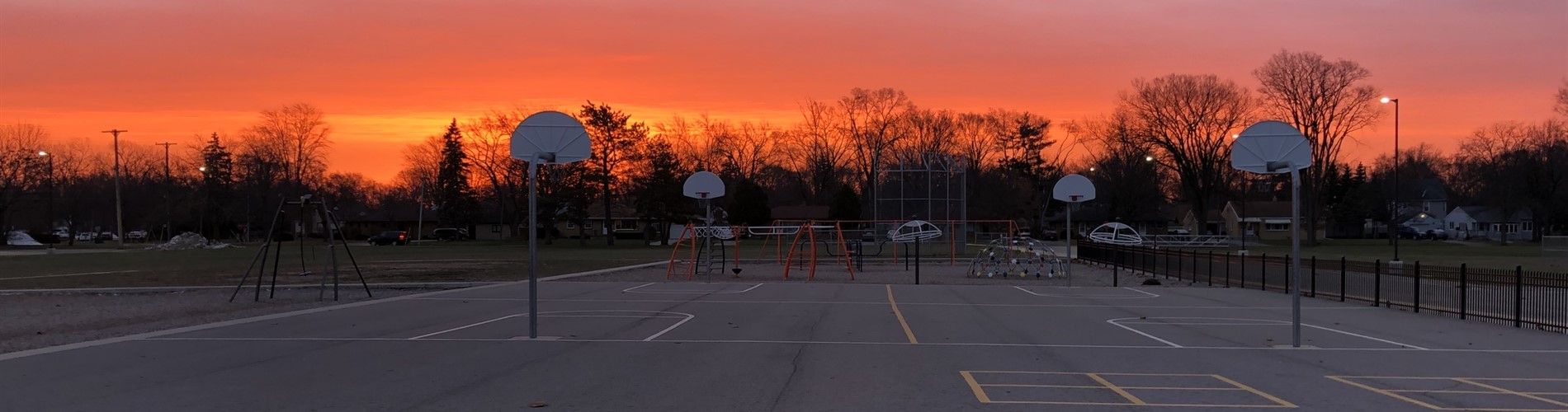 Sunrise at school